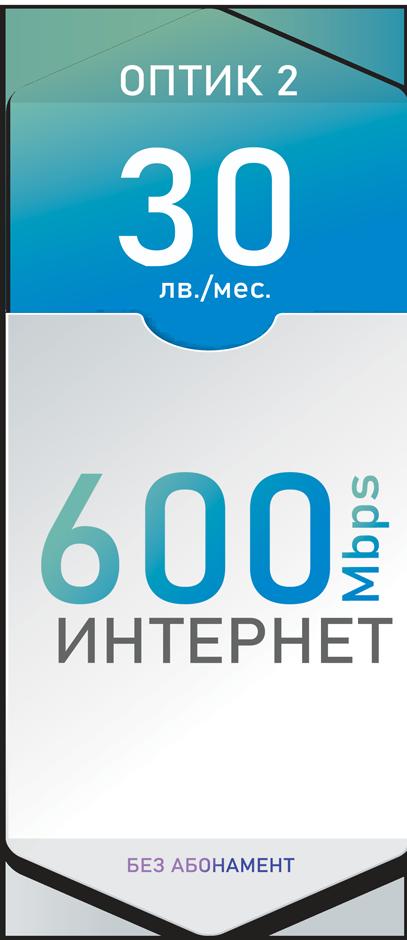 Оптичен интернет 600 Mbps за 30лв./мес. - Дупница, Кюстендил, Гоце Делчев