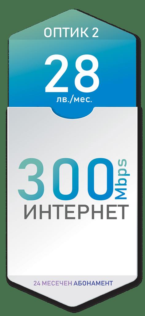 Оптичен интернет 300 Mbps за 28лв./мес. с 24 месечен договор - Дупница, Кюстендил, Гоце Делчев