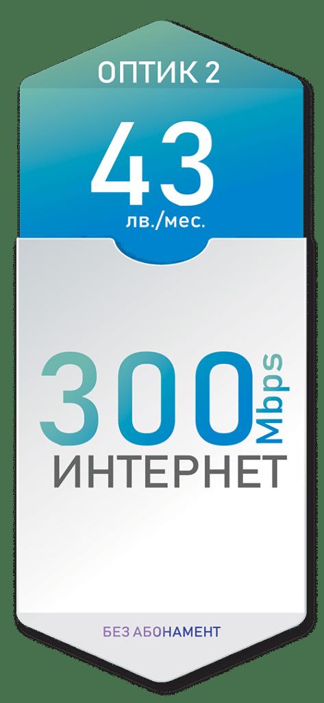Оптичен интернет 300 Mbps за 43лв./мес. - Дупница, Кюстендил, Гоце Делчев